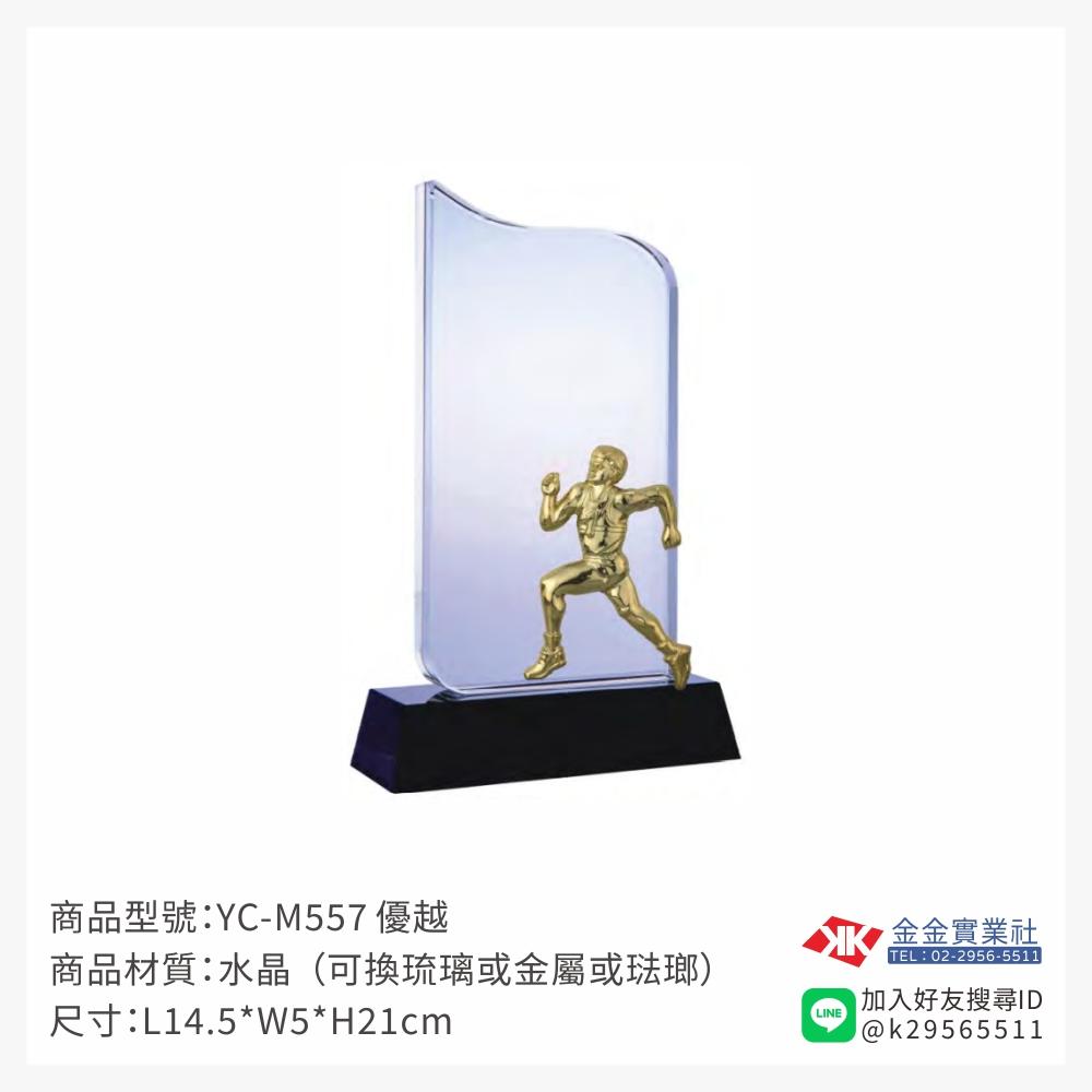YC-M557水晶獎牌-$1800~