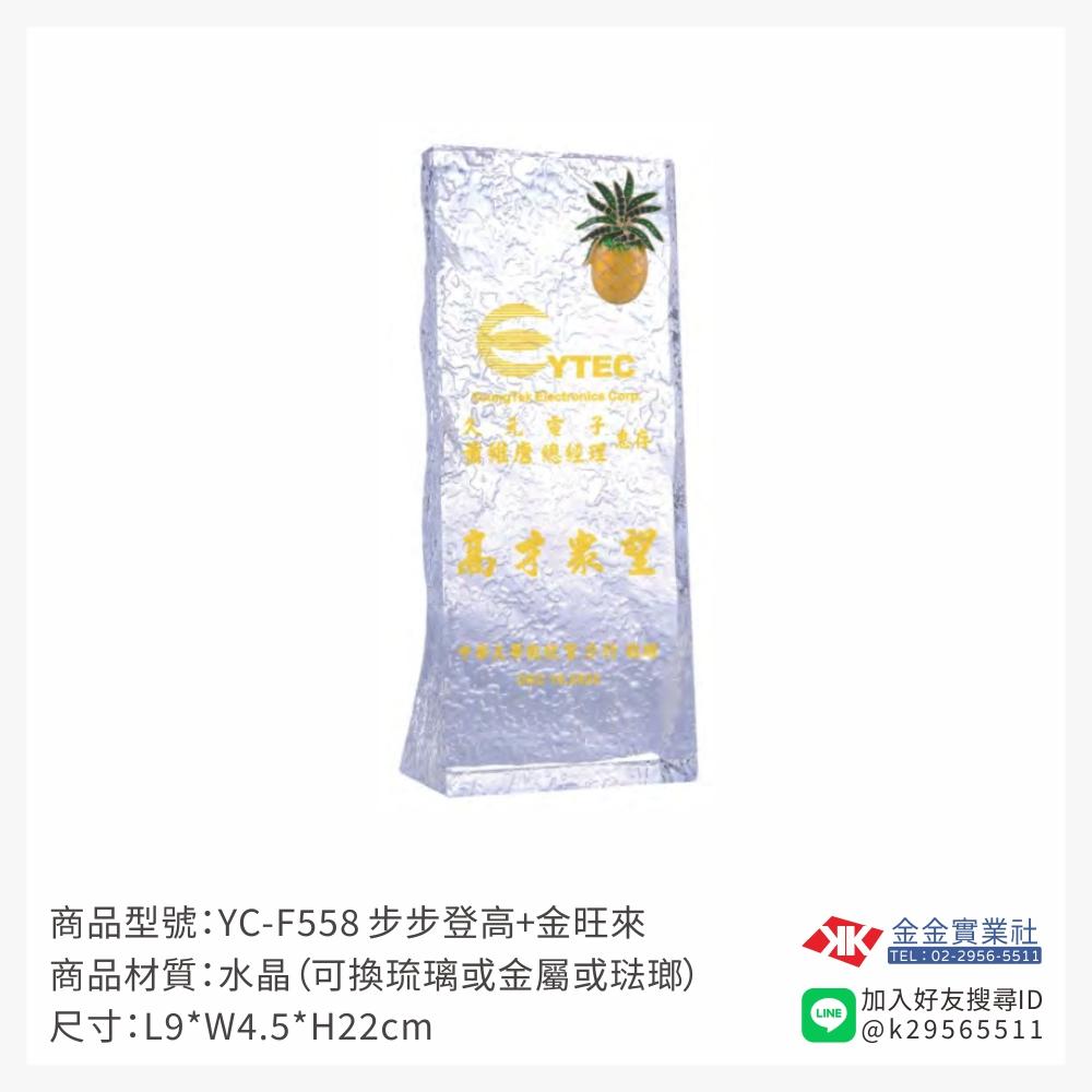 YC-F558水晶獎牌-$1800~